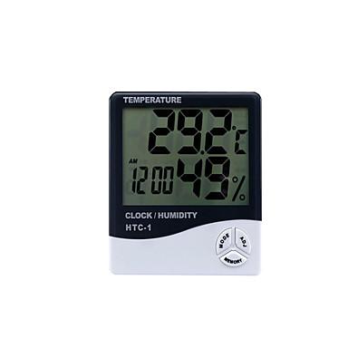 termómetro digital htc-1 interior y exterior higrómetro electrónico reloj electrónico higrómetro