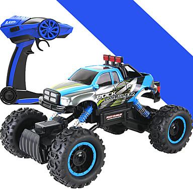 Carroça HL 1:14 Electrico Escovado Carro com CR 5 2.4G Azul Pronto a usarCarro de controle remoto Controle Remoto/Transmissor Carregador