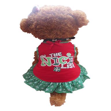 Dog Dress Red Summer Snowflake / Letter & Number