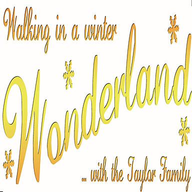 Jul / Ord & Citater / Højtid / 3D Wall Stickers Fly vægklistermærker Dekorative Mur Klistermærker,vinyl MaterialeKan fjernes / Kan
