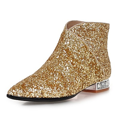 Damen Schuhe maßgeschneiderte Werkstoffe / Glanz Herbst / Winter Modische Stiefel Stiefel Blockabsatz / Block Ferse 10.16-15.24cm /