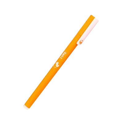 Stylo Stylo Stylos gel Stylo,Plastique Baril Noir Bleu Violet Orange Couleurs d'encre For Fournitures scolaires Fournitures de bureau