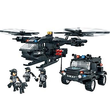 Leketøy for Boys Byggeklosser blokker Modell- og byggeleke Fighter Plast over 6 Brun