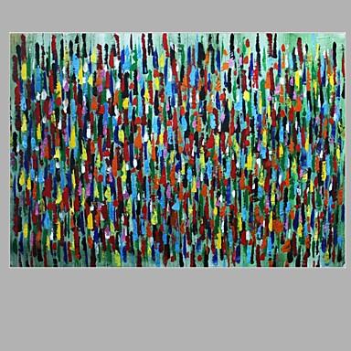Pintados à mão Abstracto Pinturas a óleo,Clássico 1 Painel Tela Hang-painted pintura a óleo For Decoração para casa