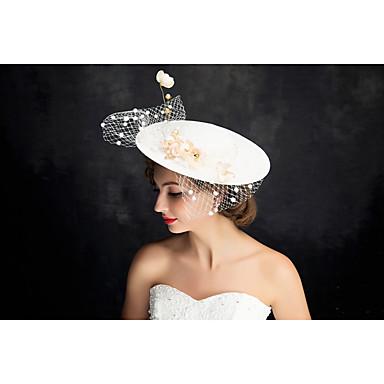 成人用 レース 真珠 チュール フラックス かぶと-パーティー ヘッドドレス 1個
