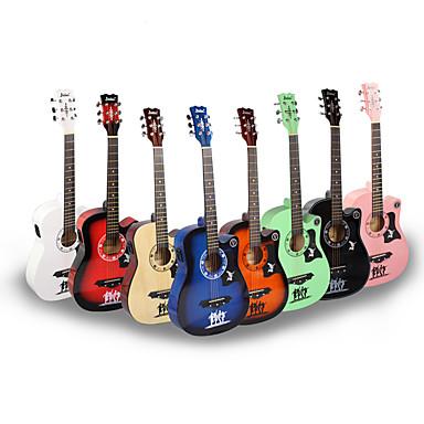 ammattilainen Guitar 38 Inch Kitara Puu aloittelijalle Värikäs Musical Instrument Varusteet