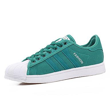 Sneakers-Kanvas Mikrofiber-Komfort-Herre-Sort Blå Rød-Udendørs Fritid Sport-Flad hæl