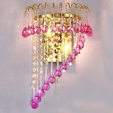 krystal væglampe kaj lampe soveværelse med dobbeltseng