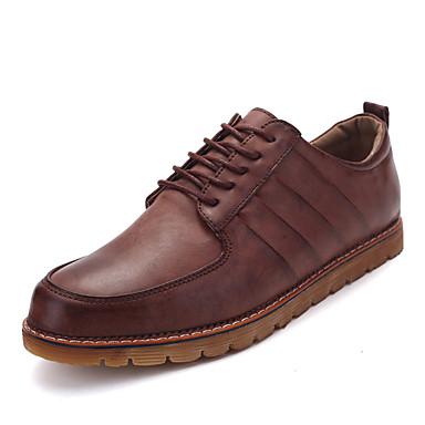 Oxford-kengät-Tasapohja-Miehet-PU--Ulkoilu Rento-Comfort
