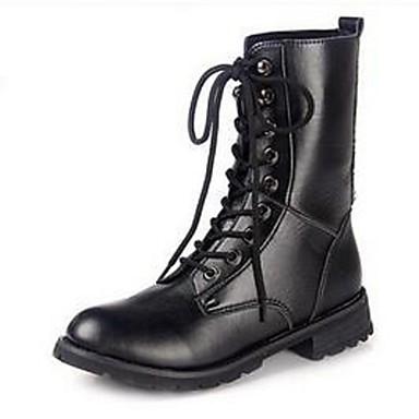 Støvler-PUDame-Sort-Udendørs Fritid Sport-Flad hæl