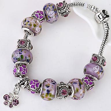 Dame Strand Armbånd Vintage Europæisk Med perler Legering Cirkelformet Smykker