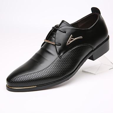 abordables Meilleures Ventes-Homme Chaussures Formal Cuir Printemps / Automne Business Oxfords Noir / Marron / EU40