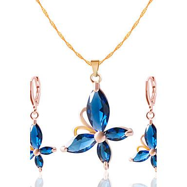 Mujer Conjunto de joyas - Incluir Collar / pendientes Negro / Rojo / Azul Para Boda Fiesta Diario Casual