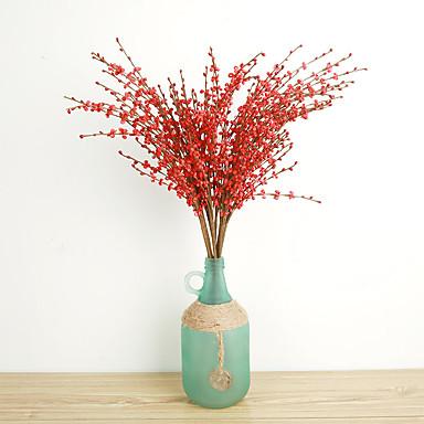 1 1 Ast Polyester / Kunststoff andere Boden-Blumen Künstliche Blumen 29.13inch/74cm