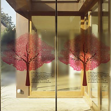 Modern-Bomen/bladeren-Raamfolie