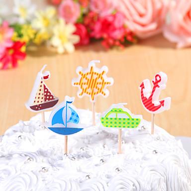 partido velas de aniversário decoração set (5 Pieces) desenhos animados pequenas velas