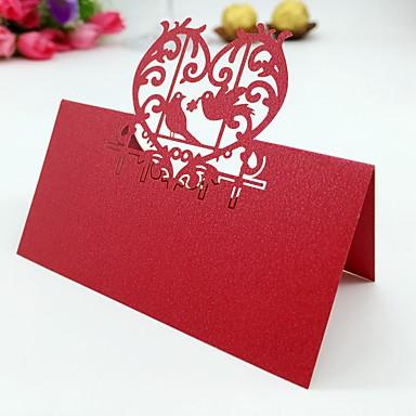 Perle-papir Bordkort 50 Stående Stil Polyester Taske