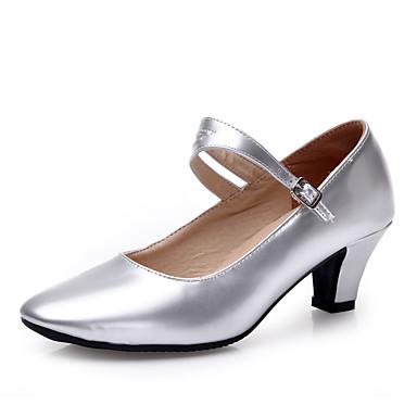 Niet aanpasbaar-Dames-Dance Schoenen(Zwart / Zilver / Goud / Fuchsia) - metBlokhak- enLatin / Modern