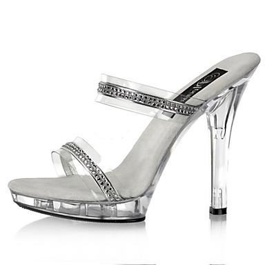 Damen Schuhe PVC Sommer / Herbst Pumps / Leuchtende LED-Schuhe / Club-Schuhe High Heels Stöckelabsatz Glitter Weiß / Hochzeit