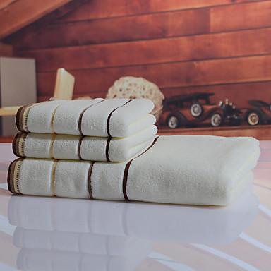 Frisk stil Badehåndklæde Sæt, Garn Bleget Overlegen kvalitet 100% bomuld Strik Håndklæde
