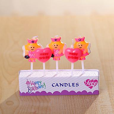 party dekoration fødselsdag stearinlys sæt (5 stykker) små tegneserie stearinlys