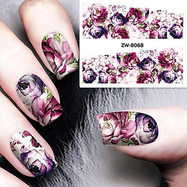 1 Wateroverdracht Sticker Klassiek Dagelijks Hoge kwaliteit Nail Art Design