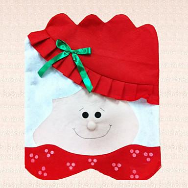tampa da cadeira não-tecido de Natal Papai Noel senhora suprimentos bowknot decoração do partido 1pc