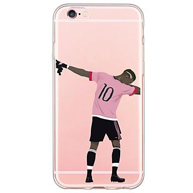 Capinha Para Apple iPhone X / iPhone 8 / iPhone 7 Ultra-Fina / Translúcido Capa traseira Desenho Animado Macia TPU para iPhone X / iPhone 8 Plus / iPhone 8