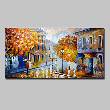 Hang-geschilderd olieverfschilderij Handgeschilderde - Landschap Modern Kangas