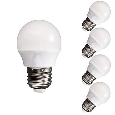 5 unids 3 w 300-350 lm e26 / e27 bulbos del globo led a60 (a19) 10 leds smd 5730 dimmable decorativo blanco cálido blanco frío 110-130 v 220-240 v