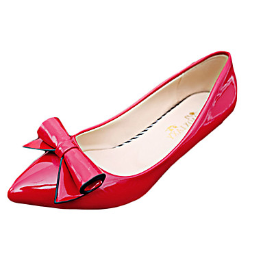 Dames Hoge hakken Zomer Herfst Leer Casual Stilettohak Overige Zwart Roze Rood Wit Grijs Wandelen