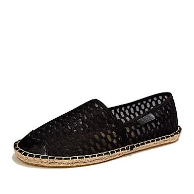 Loafers og Slip-ons-Tyl-Rund tå / Fladsko-Herre-Sort / Hvid-Hverdag-Flad hæl