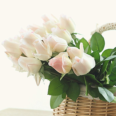 10 Afdeling PU Roser Bordblomst Kunstige blomster