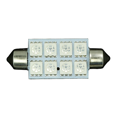 4 X Blue 42MM 5050 8SMD Festoon Dome Map Interior LED Light bulb 211-2 578