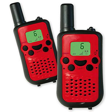 let at snakke 446mhz walkie talkie til børn (5 farver) output 0.5w 8 kanaler op til 3km-5km aaa alkalisk batteri (1 par)