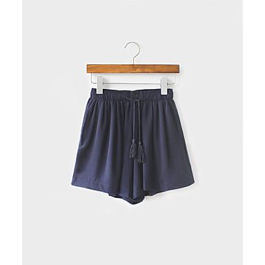 Kvinders Simpel Shorts Bukser Mikroelastisk Andet