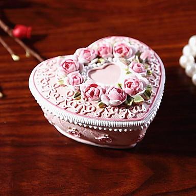 Harz Rose Schmuckschatulle Grenze für Freundin Aufbewahrungsbox für Zuhause