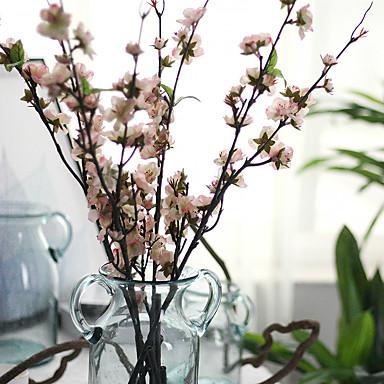 1 Afdeling Polyester Plastik Sakura Gulvblomst Kunstige blomster 43.30inch/110CM