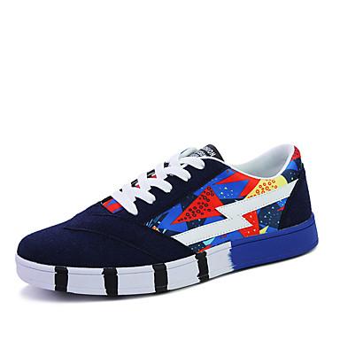 Herre-PU-Flat hælFlate sko-Friluft Fritid-Svart Blå Rød