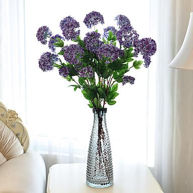 Kunstbloemen 1 Tak Moderne Style Hortensia's Bloemen voor op tafel
