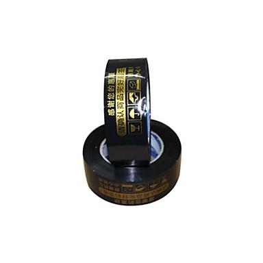 sorte advarsler tape 2,5 cm bred og 4.4cm tykk forsegling tape (volum 2 a)