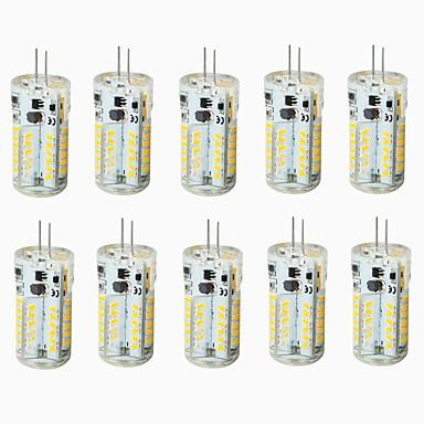 abordables Ampoules électriques-2.5 W LED à Double Broches 150-20 lm G4 T 57 Perles LED SMD 3014 Imperméable Décorative Blanc Chaud Blanc Froid Blanc Naturel 12 V 24 V Pile / 10 pièces / RoHs
