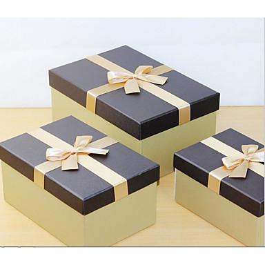 klassisk japansk stil kreative fint gull rektangulær tråd tegnepapir bransjen gaveeske 3 sett g01-25