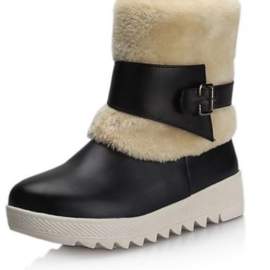 Hæle-Syntetisk laklæder Kunstlæder-Kampstøvler Cowboystøvler Snowboots Ankelstøvler Ridestøvler Modestøvler Motorcykelstøvler-Dame-Sort