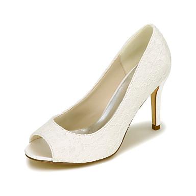 Damen Schuhe Seide Frühling Sommer High Heels Stöckelabsatz für Hochzeit Party & Festivität Weiß Schwarz Blau Rosa Elfenbein