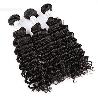 Бразильские волосы Кудрявый Ткет человеческих волос 3 предмета 0.3