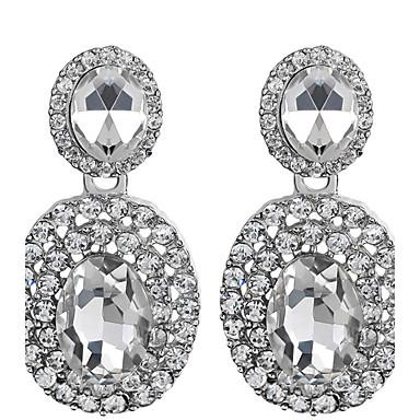 Damen Kubikzirkonia Zirkon / Kubikzirkonia Tropfen-Ohrringe - Geburtssteine Weiß Ohrringe Für Hochzeit / Party