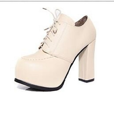 Støvler-PU-Hæle / Modestøvler / Combat-støvler-Dame-Sort / Beige-Udendørs / Hverdag / Sport-Tyk hæl
