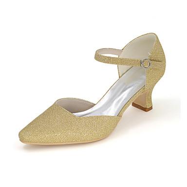 7946dcc13a Mulheres Sapatos Gliter Primavera   Verão Saltos Salto Robusto Gliter com  Brilho Vermelho   Azul