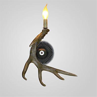 szüret fali lámpák ország agancs fények 1-lámpák egyszerű telepítés gyantaanyagok